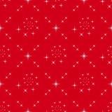 无缝在红色背景的相称星 库存照片