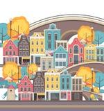无缝城市的模式 免版税库存照片