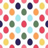 无缝复活节彩蛋的模式 免版税库存图片