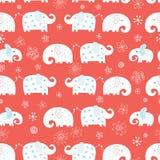 无缝大象滑稽的模式 库存例证