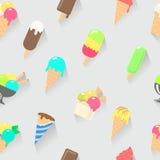 无缝奶油色冰的模式 免版税库存图片