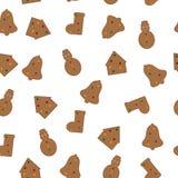 无缝姜饼的模式 库存照片