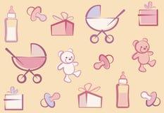 无缝婴孩的背景 免版税库存图片