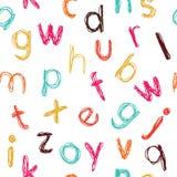 无缝字母表幼稚的模式 免版税库存照片