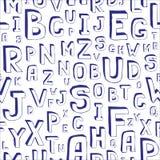 无缝字母表的背景 免版税库存图片