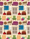 无缝家具的模式 免版税图库摄影