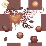 无缝巧克力的模式 库存图片