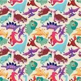 无缝恐龙的模式 库存照片