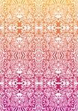 无缝愉快的橙色模式的粉红色 免版税图库摄影
