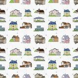 无缝房子的模式 免版税库存照片