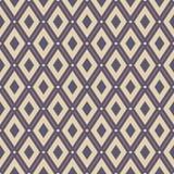 无缝抽象几何的模式 与小点的通常重复的菱形 库存例证