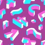 无缝抽象几何的模式 与three-dimen的背景 免版税图库摄影