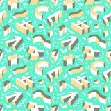 无缝抽象几何的模式 与three-dimen的背景 免版税库存图片