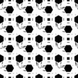 无缝抽象几何的模式 六角形纹理 粗鲁的 手孵化 免版税库存图片