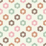 无缝抽象几何的模式 六角形纹理 粗鲁的 手孵化 免版税库存照片