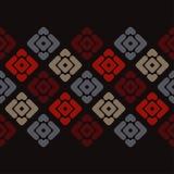 无缝抽象几何的模式 小条和菱形纹理  图库摄影