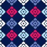 无缝抽象几何的模式 小条和菱形纹理  免版税库存图片