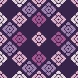无缝抽象几何的模式 小条和菱形纹理  库存图片