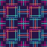 无缝抽象几何的模式 小条的纹理 粗鲁的 手孵化 杂文纹理 库存照片