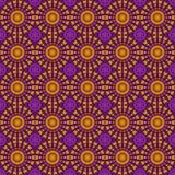 无缝抽象几何的模式 布朗与ci的样式样式 图库摄影