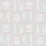 无缝抽象几何的模式 方形的条纹装饰品 免版税库存图片