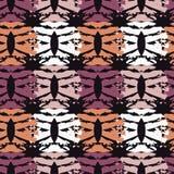 无缝抽象几何的模式 月牙的纹理 粗鲁的 手孵化 杂文纹理 库存图片