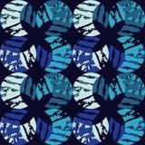 无缝抽象几何的模式 月牙的纹理 粗鲁的 手孵化 杂文纹理 免版税库存图片