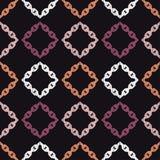 无缝抽象几何的模式 背景是能使用的镶嵌构造 链纹理 粗鲁的 手孵化 杂文纹理 免版税库存图片