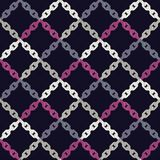 无缝抽象几何的模式 背景是能使用的镶嵌构造 链纹理 粗鲁的 手孵化 杂文纹理 库存照片