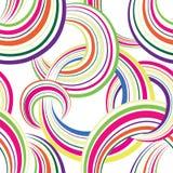 无缝抽象几何的模式 背景泡影您设计的例证 圈子 图库摄影