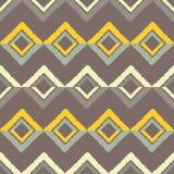 无缝抽象几何的模式 菱形纹理  手孵化 杂文纹理 库存图片