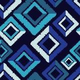 无缝抽象几何的模式 菱形纹理  手孵化 杂文纹理 图库摄影
