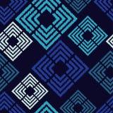 无缝抽象几何的模式 菱形纹理  粗鲁的 手孵化 杂文纹理 免版税库存图片