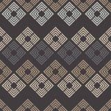无缝抽象几何的模式 菱形纹理  粗鲁的 手孵化 杂文纹理 免版税图库摄影