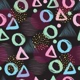 无缝抽象几何的模式 库存例证