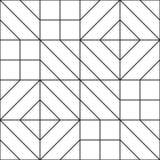 无缝抽象几何的模式 向量例证