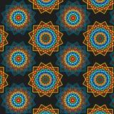 无缝抽象几何的模式 免版税库存图片