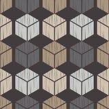 无缝抽象几何的模式 3d多维数据集 背景是能使用的镶嵌构造 粗鲁的 手孵化 库存例证