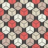 无缝抽象几何的模式 3d多维数据集 背景是能使用的镶嵌构造 粗鲁的 手孵化 皇族释放例证