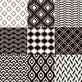 无缝抽象单色的模式 库存图片