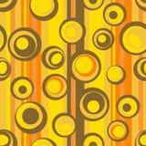 无缝抽象圈子的模式 免版税图库摄影
