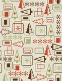 无缝抽象圣诞节的模式 免版税库存照片