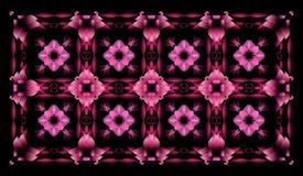 无缝抽象模式的粉红色 库存照片