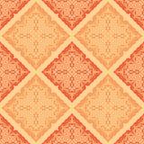 无缝抽象橙色的模式 库存例证
