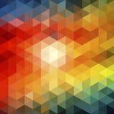无缝抽象的三角 库存例证
