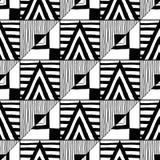 无缝抽象的模式 彩图的黑白例证 设计的背景 库存例证