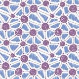 无缝抽象的模式 手拉的孵化图表 向量例证