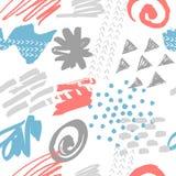 无缝抽象的模式 现代的设计 免版税库存图片