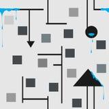 无缝抽象的模式 库存例证