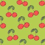 无缝抽象的背景 也corel凹道例证向量 樱桃 皇族释放例证